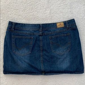 Chouyatou Women's Casual Denim Jean Skirt  Sz XXL